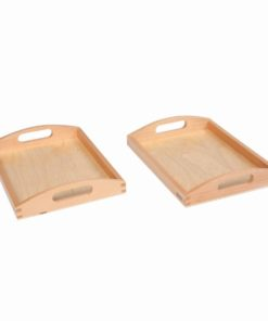 Wooden tray small: set of 2 - Nienhuis Montessori