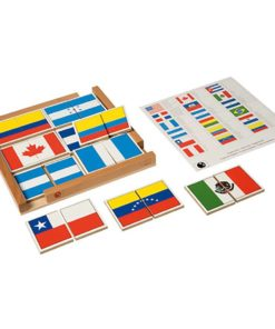 Flag puzzle of the Americas - Nienhuis Montessori
