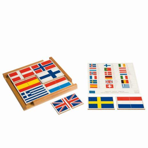 Flag puzzle of Europe - Nienhuis Montessori