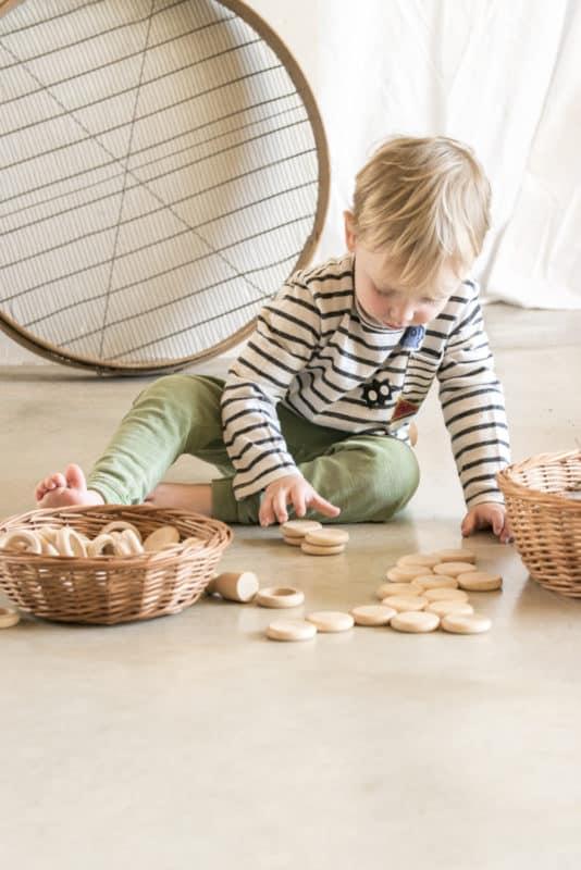 Nins, rings & coins Natural Wood - Grapat