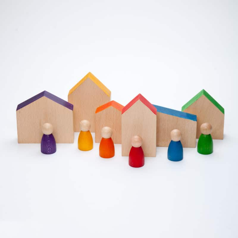 Handmade sustainable wooden toy Houses and Nins® – Grapat