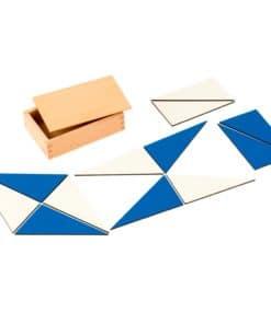 12 identical blue triangles - Nienhuis Montessori