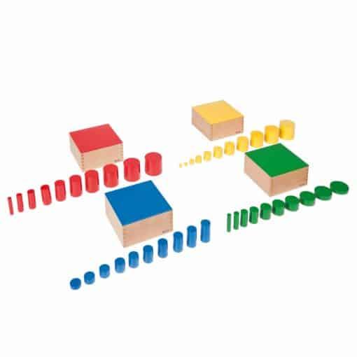 Set Of Knobless Cylinders - Nienhuis Montessori