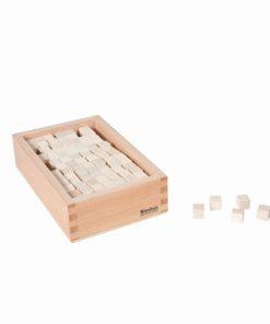 Boite avec cubes pour la tour rose (comparaison de volume) - Nienhuis Montessori