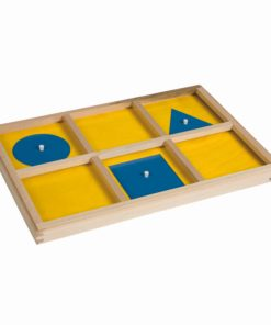 Plateau d'introduction au cabinet de géométrie - Nienhuis Montessori