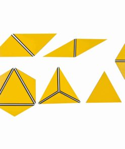 Set Of Yellow Constructive Triangles - Nienhuis Montessori