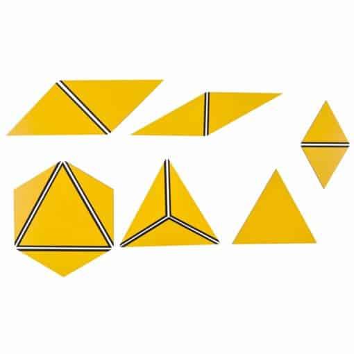 Set Of Yellow Constructive Triangles - Nienhuis Montessori