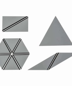 Set Of Gray Constructive Triangles - Nienhuis Montessori