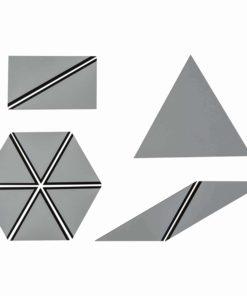 Ensemble de Triangles Constructeurs : gris - Nienhuis Montessori