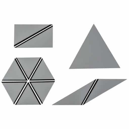 Set Of Gray Constructive Triangles - Nienhuis Montessori