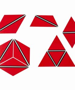 Set Of Red Constructive Triangles - Nienhuis Montessori