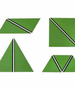 Set Of Green Constructive Triangles - Nienhuis Montessori