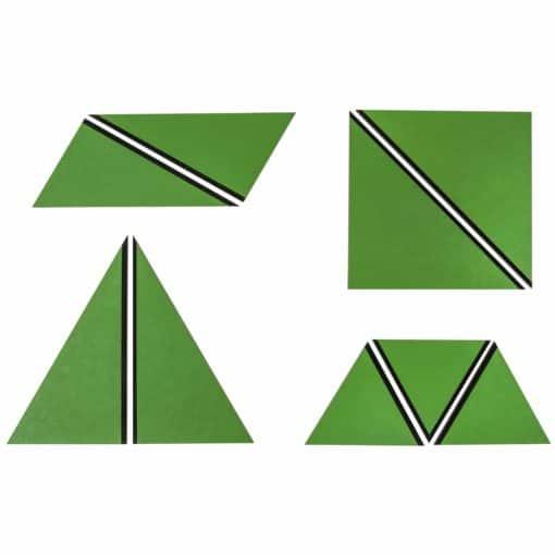 Ensemble de Triangles Constructeurs : vert - Nienhuis Montessori