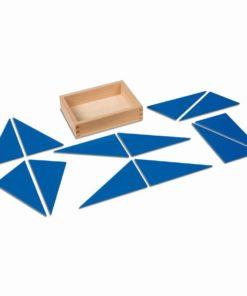 Triangles bleus identiques - Nienhuis Montessori