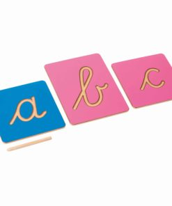 Hollow Letter Shapes: International Cursive - Nienhuis Montessori