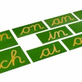 Double Sandpaper Letters: French Cursive - Nienhuis Montessori