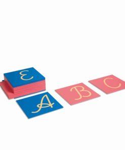 Montessori language material Sandpaper Capitals: International Cursive - Nienhuis Montessori
