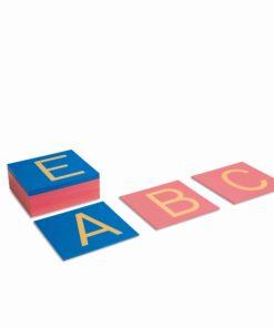 Montessori language material Sandpaper Capitals: International Print - Nienhuis Montessori