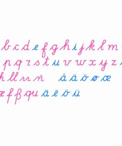 Montessori language material Large Movable Alphabet: International Cursive - Nienhuis Montessori