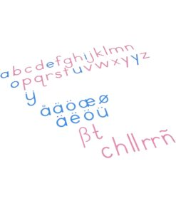 Large Movable Alphabet: International Print - Nienhuis Montessori