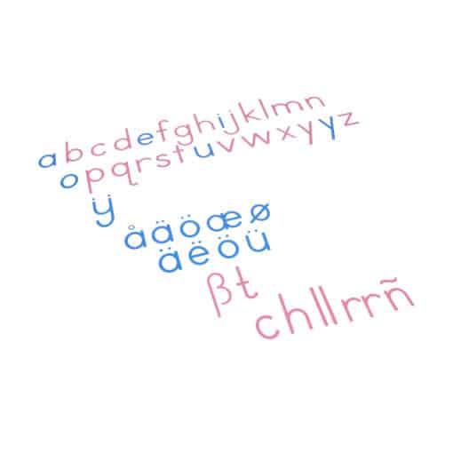 Large Movable Alphabet: International Print - Nienhuis Montessori