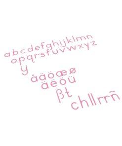 montessori language materials Small Movable Alphabet: International Print - Red - Nienhuis Montessori