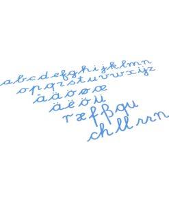 Montessori language materials Medium Movable Alphabet: International Cursive - Blue - Nienhuis Montessori
