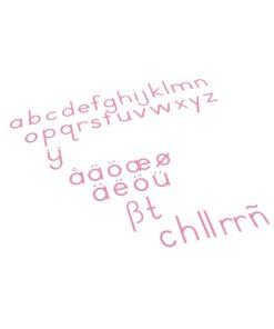 Montessori language materials Medium Movable Alphabet: International Print - Red - Nienhuis Montessori