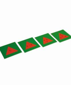 Metal Triangles: 4 Plates - Nienhuis Montessori