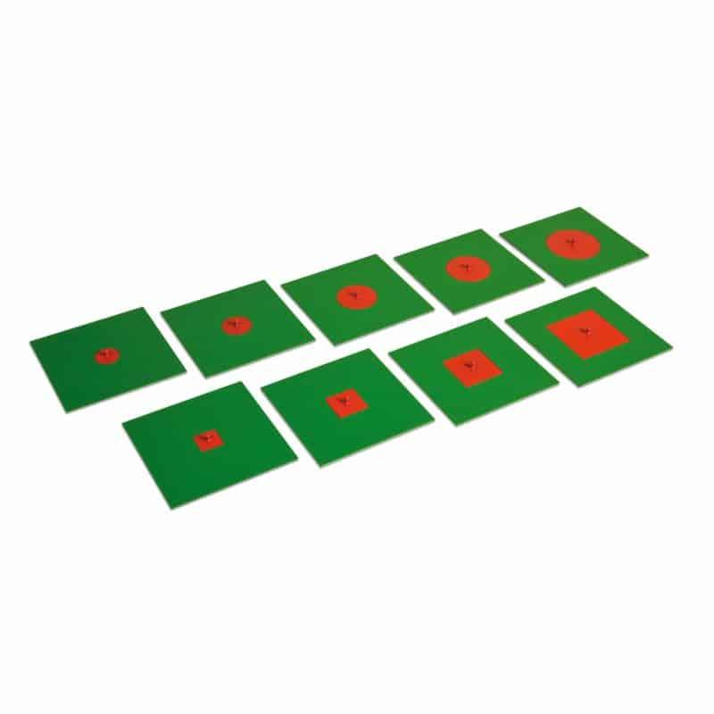 Montessori geometry material Inscribed And Concentric Figures: Metal - Nienhuis Montessori