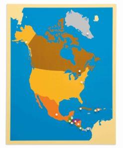 Puzzle Map: North America - Nienhuis Montessori