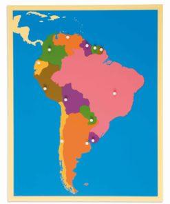 Puzzle Map: South America - Nienhuis Montessori