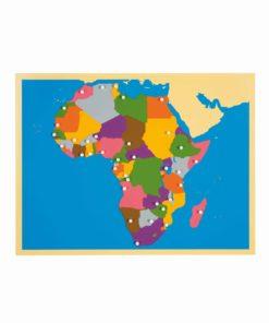 Puzzle continent Map: Africa - Nienhuis Montessori