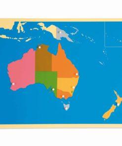 Montessori Australian continent Puzzle Map: Australia - Nienhuis Montessori