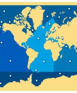 Puzzle Map: Seas And Oceans - Nienhuis Montessori