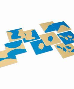 Montessori matériel géographie cartes des formes géographiques - Nienhuis Montessori