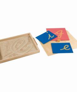 Boite avec sable pour exerc. D'ecrire - Nienhuis Montessori