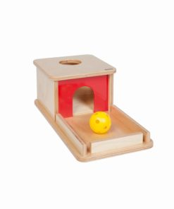 Object Permanence Box With Tray - Nienhuis Montessori infant toddler material
