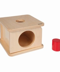 Imbucare box with large cylinder / Montessori infant & toddler material - Nienhuis Montessori