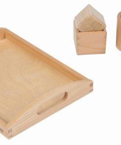 3D object fitting exercise/ Montessori material for infants - Nienhuis Montessori