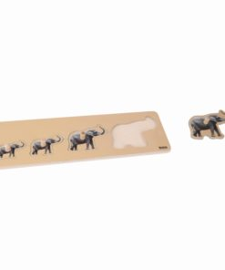 Toddler Puzzle: 4 Elephants - Nienhuis Montessori