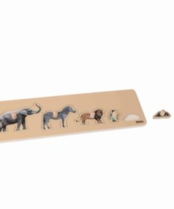 Toddler Puzzle: 5 Wild Animals - Nienhuis Montessori