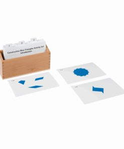 12 Identical Blue Triangles Activity Set - Nienhuis Montessori