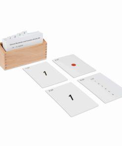 Montessori mathematics material Cut-Out Numerals And Counters Activity Set - Nienhuis Montessori