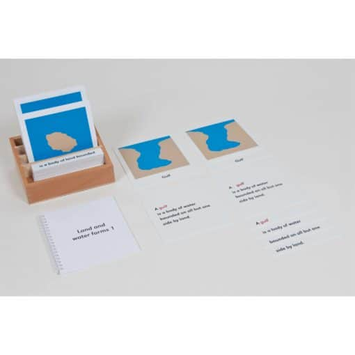 Land And Water Form Cards: Set 1 - Nienhuis Montessori