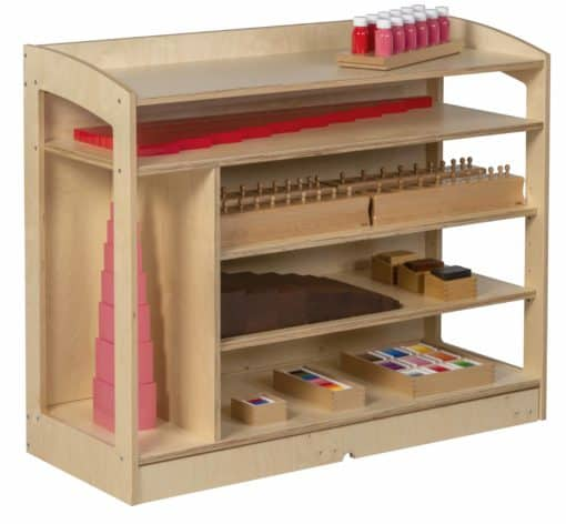Sensorial Cabinet: Open Back (93 cm) - Nienhuis Montessori