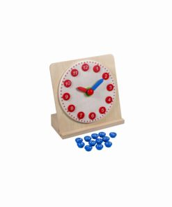 Mathematical Montessori material Clock With Movable Hands - Nienhuis Montessori