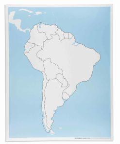 Montessori continent puzzle South America Control Map: Unlabeled - Nienhuis Montessori