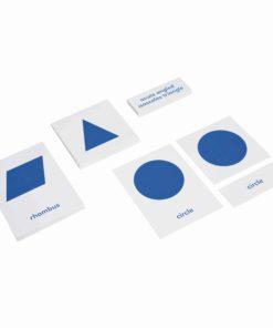 Geometric Cabinet Nomenclature Cards - Nienhuis Montessori