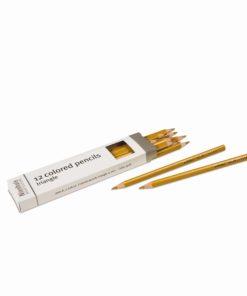Crayons triangulaires pour inserts Métalliques : doré - Nienhuis Montessori
